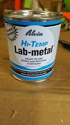 Alvin Lab Metal Hi Temp Repair Compound 24 oz Withstands Temps Up To 1000F