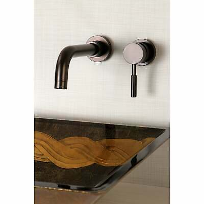 Wall Mount Oil Rubbed Bronze Single Handle Bathroom Faucet