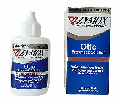 ZYMOX - Pet King Brand Otic Pet Ear Treatment with Hydrocortisone- 1.25oz