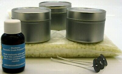 Highly Scented ~ Soy wax candle making pack. 3 tins, 10% scent/wax ratio!