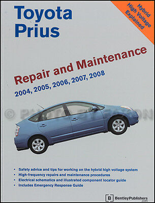 Toyota Prius Bentley Manual Taller 2004 2005 2006 2007 2008 Híbrido Servicio