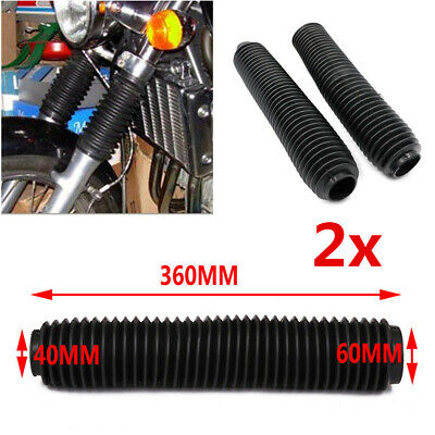 2Pc 360mm Rubber Fork Boot Cover Suspension Dust Shield For Dirt Bike Motorcycle