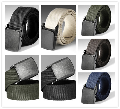 Mens Heavy Duty Military Canvas Belt Tactical Bag Army Outdoor-Utility Waistband