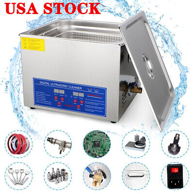 Pro Stainless Steel 10L Liter Industry Heated Ultrasonic Cleaner Heater Timer