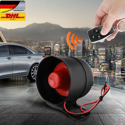 1 Way 2 Remote Auto Fahrzeug-Alarmanlage Keyless Entry Security Alarm System Neu
