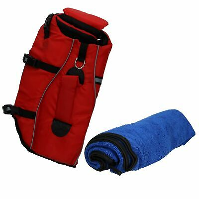 Reflective Life Jacket For Dog Medium-30kg Weight Capacity & Microfibre Towel