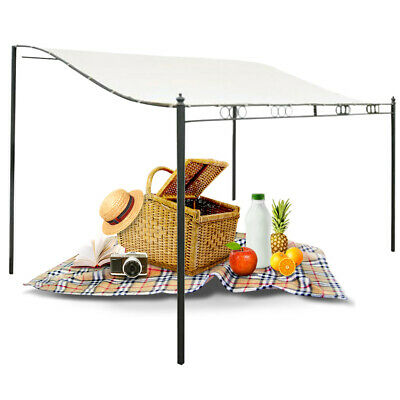 Metal Wall Gazebo Canopy Awning Sun Shade Marquee Shelter Door Porch UK