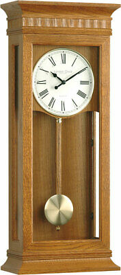 London Clock 25073 - Wall Clock - Oak - Pendulum Clock - Regulator Clock - New