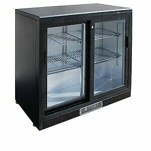 Polar Double Sliding Door Back Bar Cooler