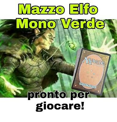 MTG Magic - Elf Deck / Mazzo Elfo Verde - 60 Carte Completo Pronto per Giocare