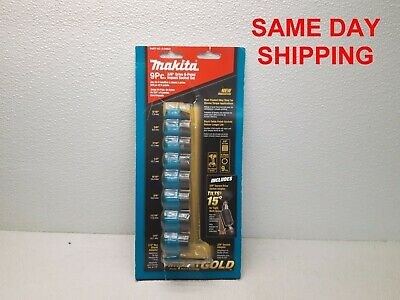 Makita 8 Pc. 3/8'' Drive 6 Point Impact Socket Set B-34883      Item 801666-Aa3