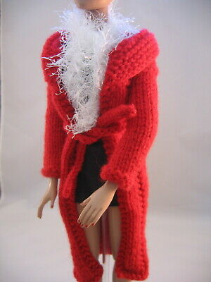 """Doll Clothes Red Fitted Coat with Fun Scarf fits 16"""" fashion as Tonner Tyler"""