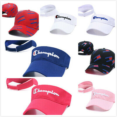 Adjustable  Champion  Visor Sun Plain Hat Sports Cap Colors Golf Tennis Beach