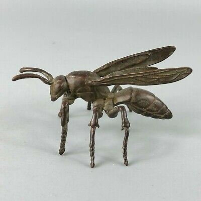 Collectible Chinese Old Antique Solid Copper Handwork Bumblebee Ornament Statue