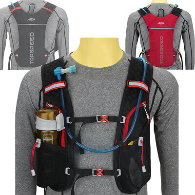 Running Hydration Water Backpack Outdoors Camping Hiking Marathon Vest Pack B$