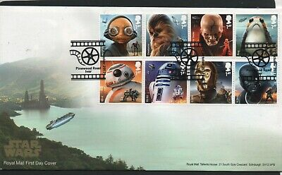 GB 2017 FDC Star Wars Pinewood Road Iver postmark stamps