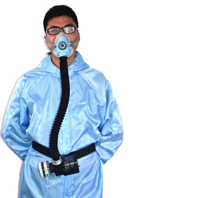 Electric Gas Mask Constant Respiratory System Flow Supplied Air Half Face