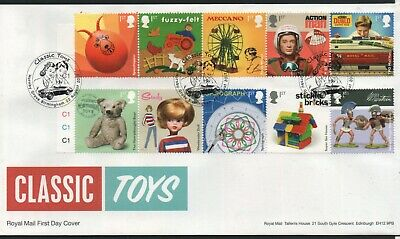 GB 2017 FDC Classic Toys Hornby Grove Birmingham postmark stamps