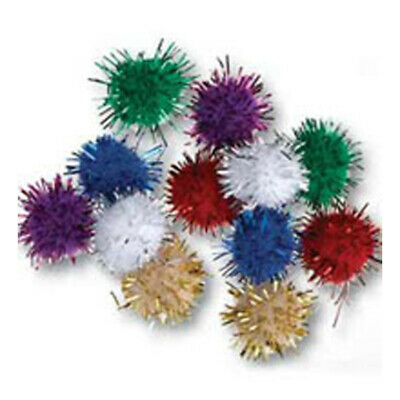 Trimits PP9[1-7] | Metallic Pom Poms Toy Making 7mm 100 pack