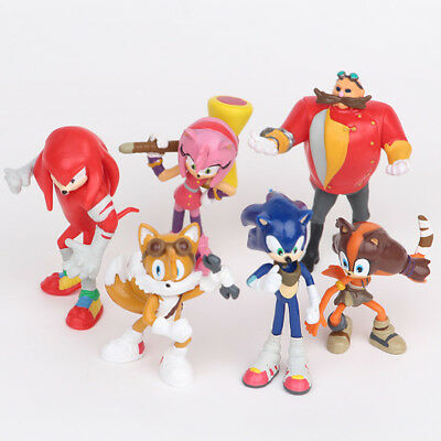 Uk 6Pcs Sonic The Hedgehog Action Figure Doll Kid Toys Set Cake Topper Decor