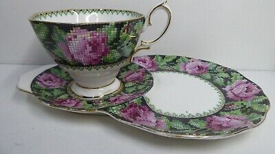 Royal Albert Porcelain China Tapestry Floral Allover Tennis Cup & Saucer