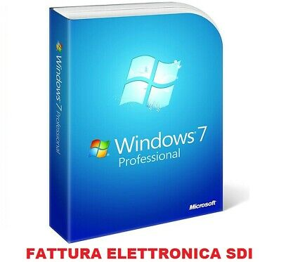 Windows 7 Professional Pro Key 32/64 Bit Licenza Retail Esd - Fattura Italiana