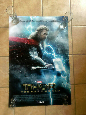 THOR 2 THE DARK WORLD Authentic ORIGINAL DS Rolled Movie Poster 27x40 MARVEL '13