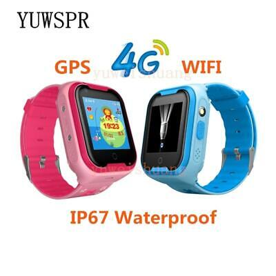 Kids GPStracker 4G smart watches GPS LBS WIFIlocation SOS call Flashlight Camera