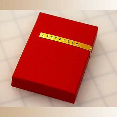 Limited Edition Red Labyrinth Playing Cards (Numbered and Sealed) by KWP