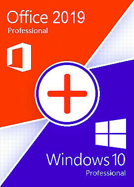 Windows 10 pro activated 64/32Bit with Office 2019 Pro Plus + activated version!