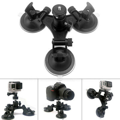 PC Tri-Angle Suction Cup Tripod Mounts Kit For GoPro Hero 3+/4/5 HD Camera Parts