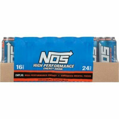 NOS High Performance Energy Drink 16 oz. ounce - 24 pack