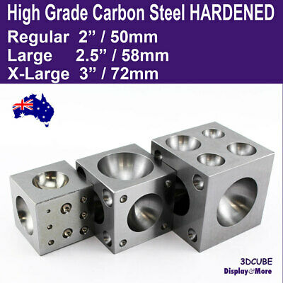 DAPPING Block Doming Cube HARDENED Steel | RELIABLE Jewellery Tool | AUS Stock