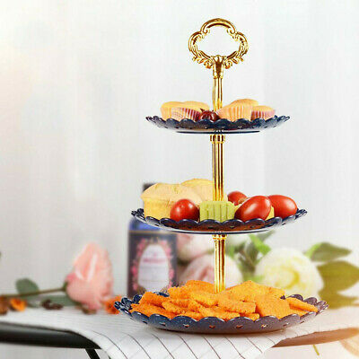 3-Tier Cupcake Stand Cake Dessert Wedding Event Party Display Tower Plate Round