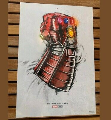 "Avengers Endgame New Gauntlet Movie Poster From Marvel 19"" X 13""  New Ships Flat"