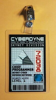 Terminator ID Badge-Cyberdyne Systems Skynet Chief Programmer costume cosplay