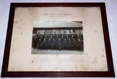 Old UK Police Force Photo - Kent County Constabulary - Cranbrook Division 1922