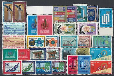UN 1968 - 1970 New York ☀ United Nations collection ☀ 32v MNH/MLH