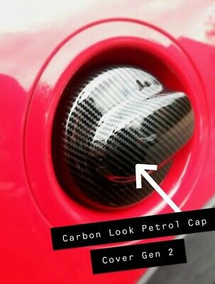 x1 Carbon Look Petrol Cap Gas Cover for MINI Clubman R55 R56 Cooper S Mini Bitz