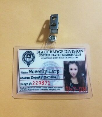 Wynonna Earp ID Badge-Black badge Division Waverly Earp cosplay prop costume