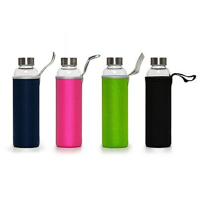 Sports  Gym recyclable Glass Water Drinking Bottle Protection Sleeve BPA Free