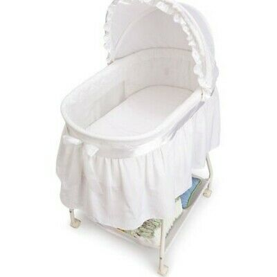 Classic Sweet Beginnings Bassinet White Delta Children Storage Basket New