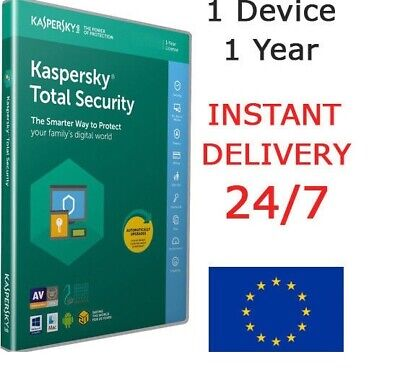 kaspersky Total Security 2019 Antivirus (1 Device /1 Year ) Instant Deliver