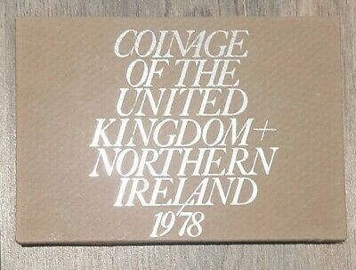 1978 Coinage Of Great Britain And Northern Ireland Proof Decimal Coin Set 02