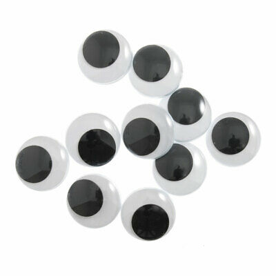 The Craft Factory   Toy Eyes   Googly   Glue-on   Black   10 Pack   ME