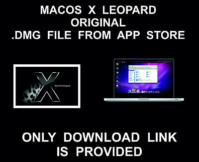 Leopard 10.5.6 .DMG File Download Link, Full, From Mac App Store