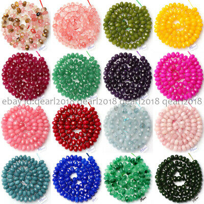 Lots Faceted 5x8mm Multi-Color Gems Abacus Rondelle Loose Beads 15'' Wholesale
