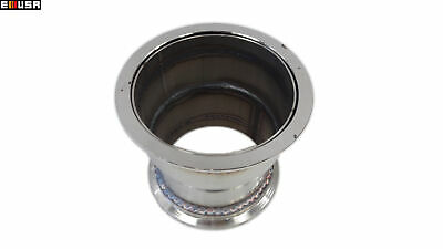"Steel Exhaust Downpipe Header Reducer from 4/"" V-Band to 3.5/"" V-Band Flange"