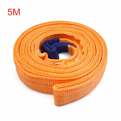 50mm x 5m Double Layers Recovery Nylon Towing Lifting Strap Rope for Car Truck