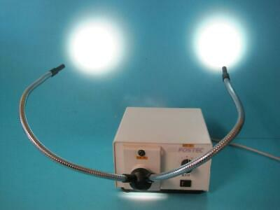 Fostec 8375 Fiber Optic Light Illuminator With Extended Dual Gooseneck 8300.2